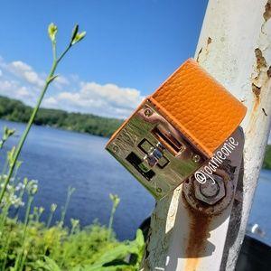 Jewelry - Warm Tan Adjustable Silver Turn Lock Leather Cuff